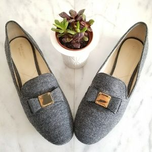 56b54de82ad Cole Haan Shoes - Cole Haan Tali Bow Loafers Gray Flannel Flat 11 B